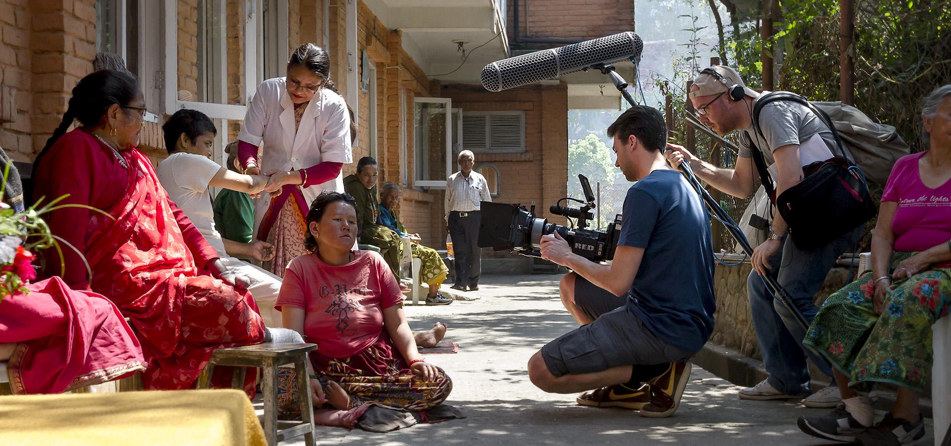 FIRSTGRADE on Set | Nepal, April 2014, während der Dreharbeiten des Dokumentarfilms 'Losing Touch'