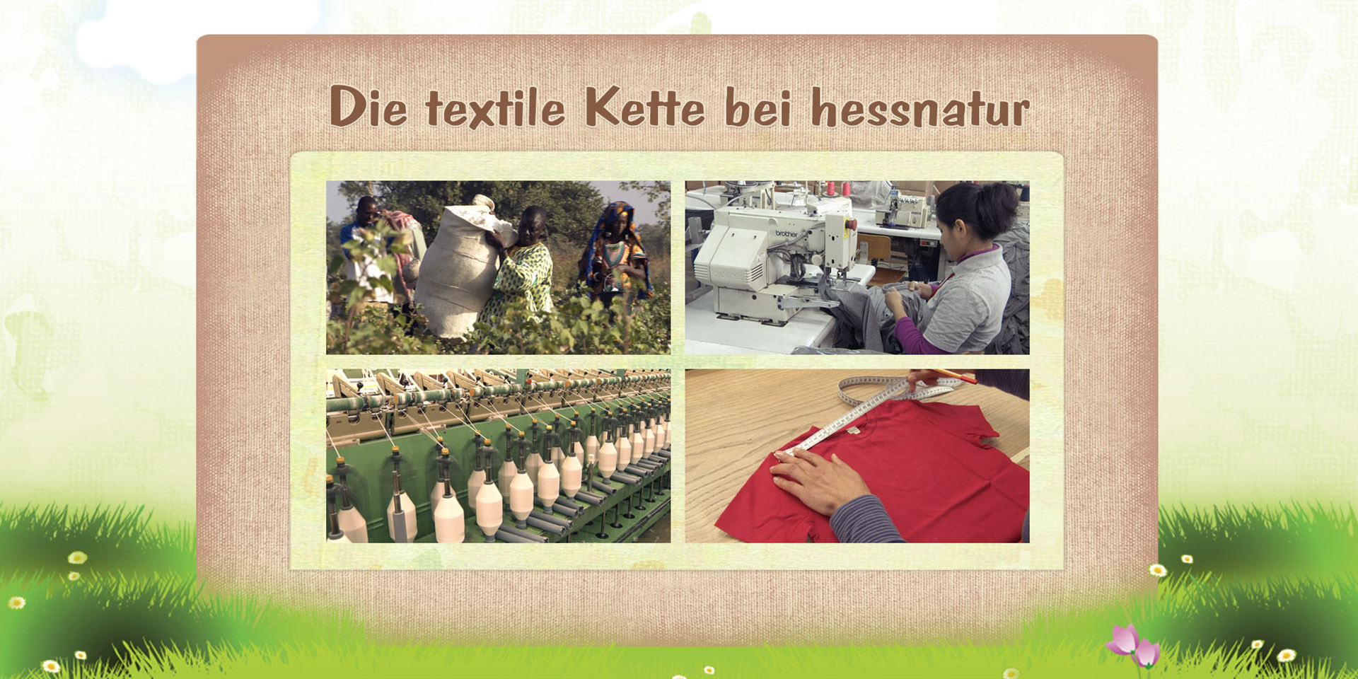"hessnatur | ""Die textile Kette bei hessnatur"" 